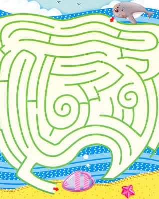 maze games kids maze games free printable kindergarten games - Free Printable Games For Kids