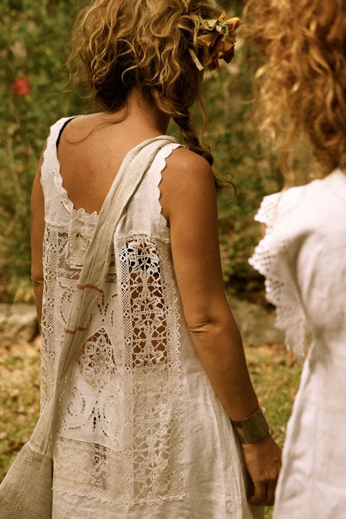 summer lace: Fashion, Summer Dress, Hippie, Style, Clothing, Clothes, Boho, Hair, Lace Dresses