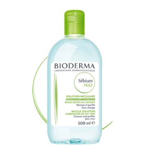 Bioderma Sébium H2O Limpiador/desmaquillante, no requiere enjuague. Para pieles grasas, elimina el brillo del rostro.