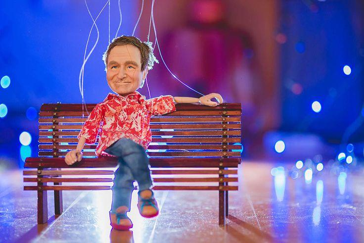 Puppet portrait of Robin Williams #robinwilliams