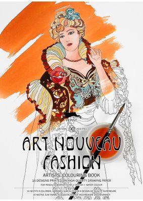 Pepin Press Colouring Book - Art Nouveau Fashion