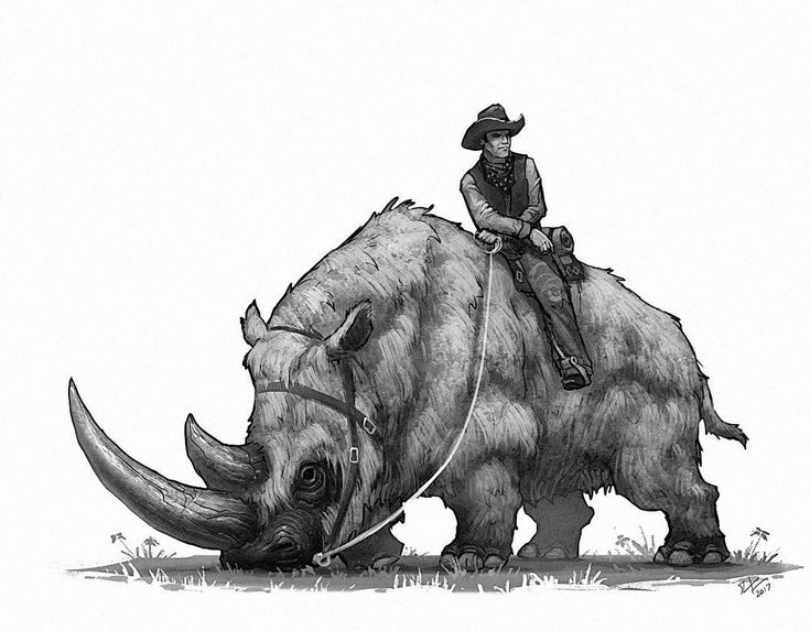 Wooly rhino. Another Wild West prehistoric beast.