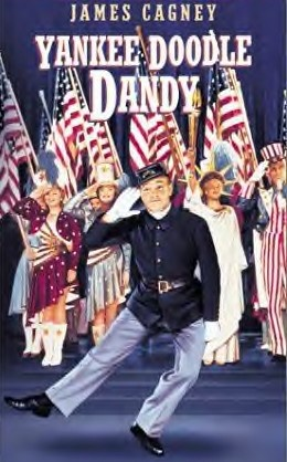 """James Cagney In 1942 gave a memorable performance as song and dance man """"George M Cohan"""" in """"Yankee Doodle Dandy"""" in Which he received the acadmey award for best actor."""