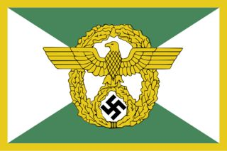 World War II - Nazi German Geheime Staatpoliezi ''Gestapo'' Flag