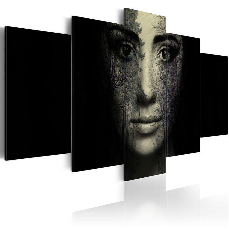 Obraz kobieta #black #dark #art #artistic #portret #face