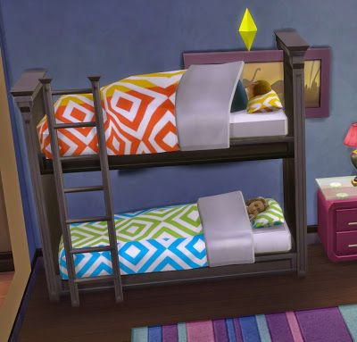 My Sims 4 Blog: Functional Bunk Bed! by Ugly Breath http://amzn.to/2t2yJ3S