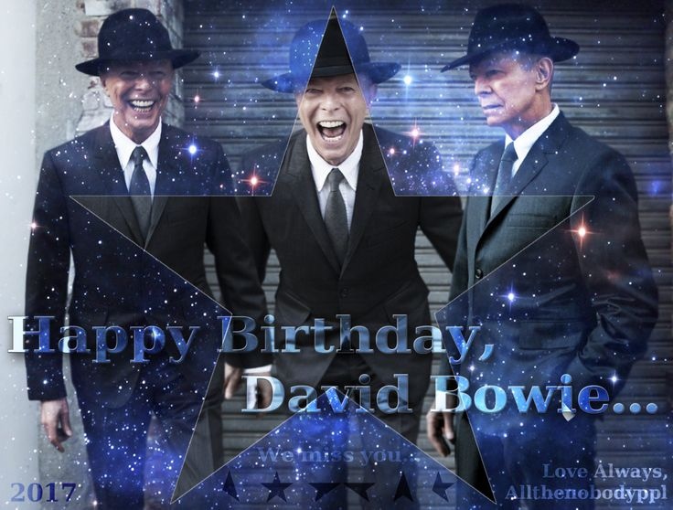 Happy Birthday, David Bowie. It's been almost a year since you left us, and the sting of such a lost still remains. It gets better each day, the sadness fades, but will never disappear. Today we should celebrate his life, and try not to dwell on the...