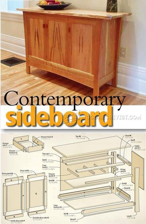 Contemporary Sideboard Plans - Furniture Plans and Projects | WoodArchivist.com