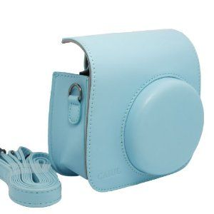 NodArtisan Light Blue PU Leather fuji Fujifilm Instax Mini 8 Case bag