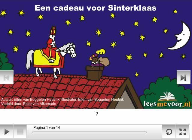 """Digitaal prentenboek """"Een cadeau voor Sinterklaas""""."""