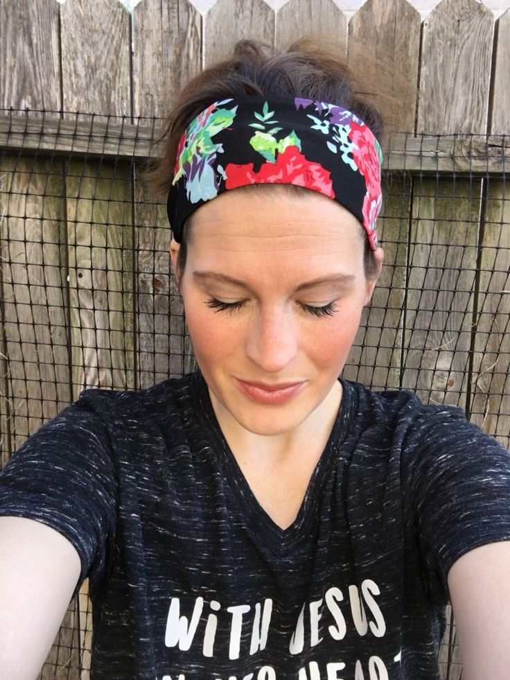 A personal favorite from my Etsy shop https://www.etsy.com/listing/264115425/workout-headband-yoga-headband-spandex