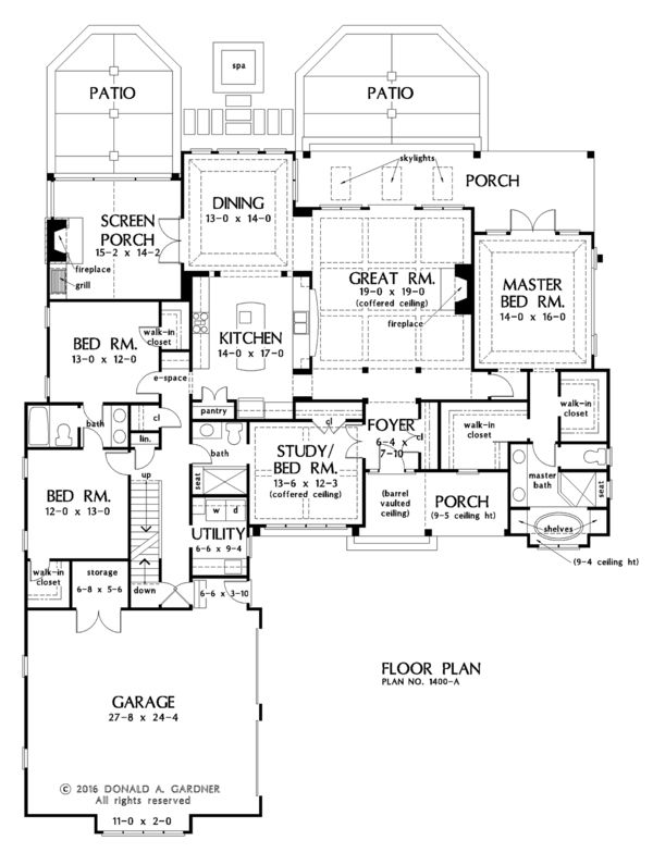 Country Style House Plan 4 Beds 3 Baths 2544 Sq Ft Plan 929 1026 Country Style House Plans Floor Plans Best House Plans