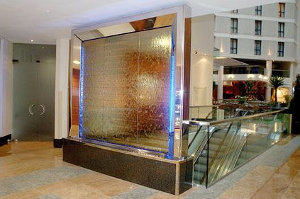 Indoor Water Wall For Sofitel Hotel Gatwick Airport England Landscape Pinterest The O