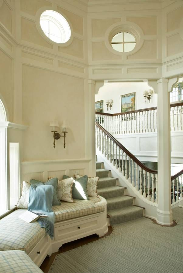17 images about coastal living on pinterest sarah for Furniture for curved wall in foyer
