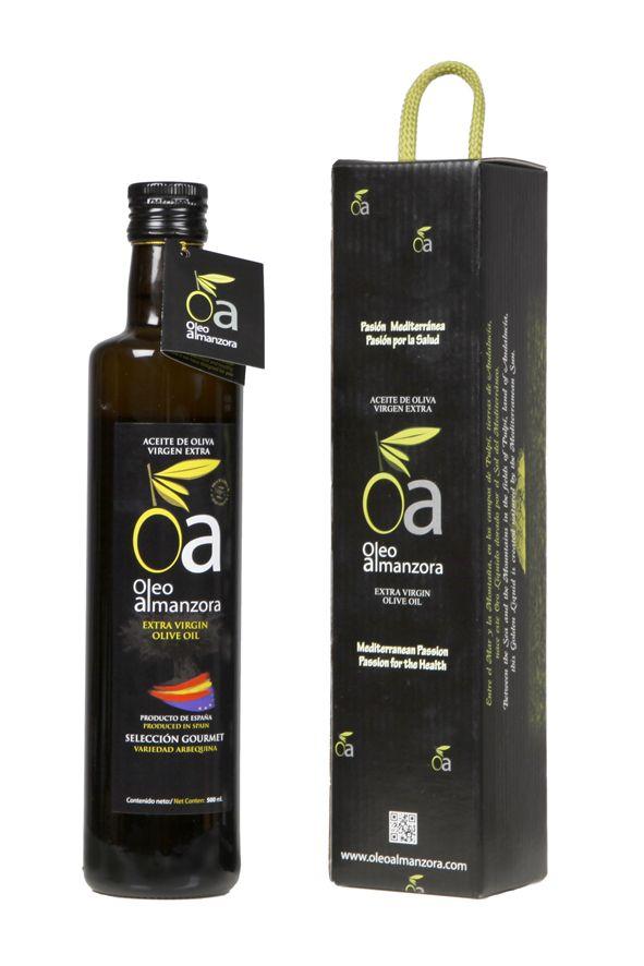 http://tienda.oleoalmanzora.com:3000/  www.oleoalmanzora.com  Aceite de Oliva Virgen Extra Arbequina Selección Gourmet. Extra Virgin Olive Oil, Salud, health, AOVE. Tienda Online.