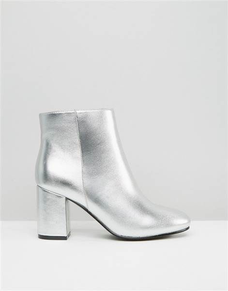 Things are getting groovy this fall with these metallic ankle boots from ASOS.