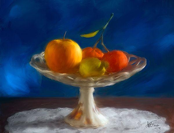 Apple, Lemon and Madarines by Juan Carlos Ferro Duque. http://fineartamerica.com/featured/2-apple-lemon-and-mandarins-valencia-spain-juan-carlos-ferro-duque.html
