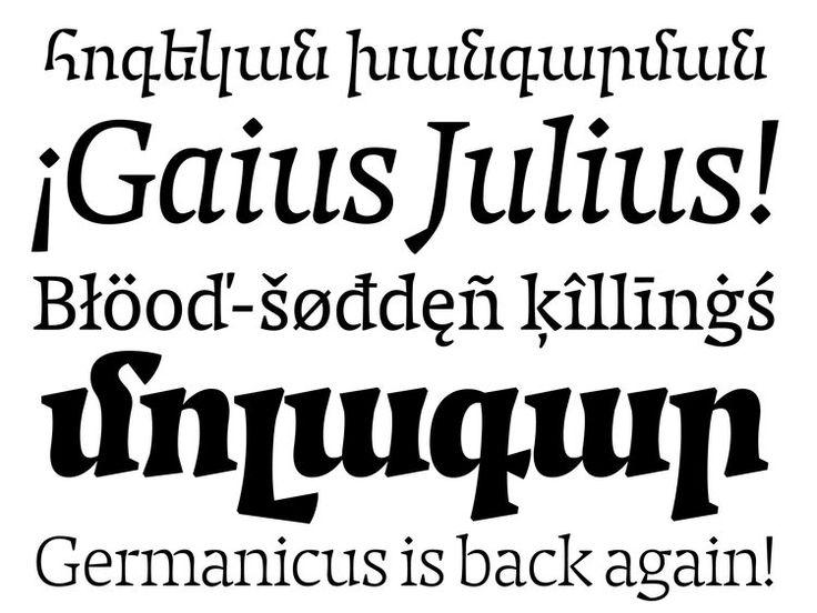 Caligula typeface by studio niedermann
