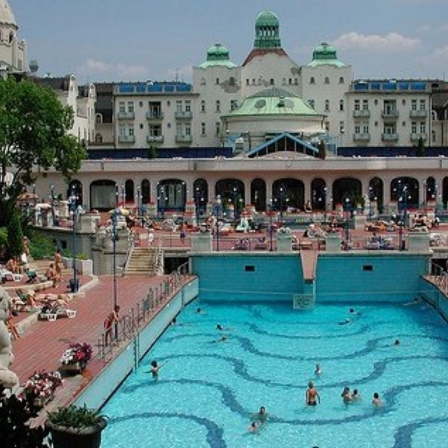 Gellert Bath, Budapest, Hungary. One of the  craziest wave pools you will ever see!
