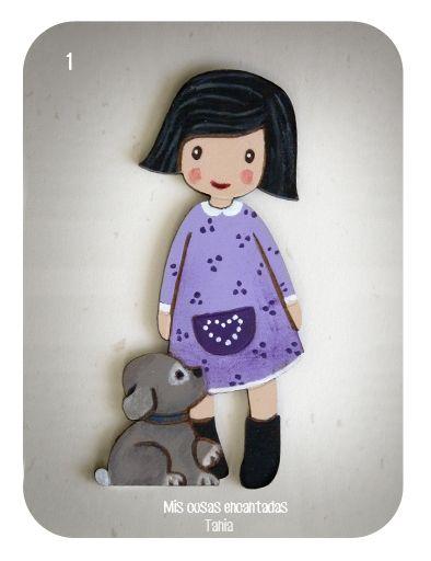 http://miscosasencantadas.blogspot.com.es/ Broche, muñeca Dolly