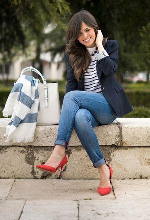 Look by @ponteunostacones with #primark #casual #zara #summer #blazer #verano #work #office #jeans #denim #oficina #heels #vaqueros #stripes #pants #top #spring #primavera #rayas #black #sfera #stradivarius #zapatos #trabajo #jean #scarves #red #chaquetas #chic #navy #streetstyle #tacones #elegant #business #vaquero #pantalon #blazers #bags #working #urban #camiseta #marinero #diario #basic #fashion #americanas #azul #cool #outfit #mom #love #ootd #outfits #look #urbano #baby #looks.