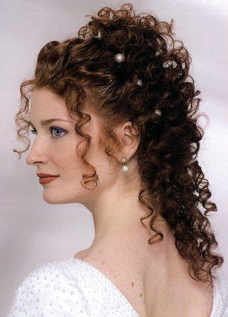 12 best curly wedding hairstyles images on pinterest