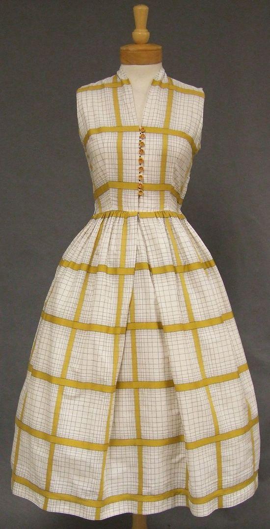 Vintageous, LLC - Charming Plaid Cotton 1950's Day Dress, $85.00 (http://www.vintageous.com/charming-plaid-cotton-1950s-day-dress/)