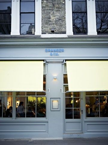 Granger & Co. restaurant in Notting HIll. Located at 175 Westbourne Grove - Go for brunch and get the Australian breakfast