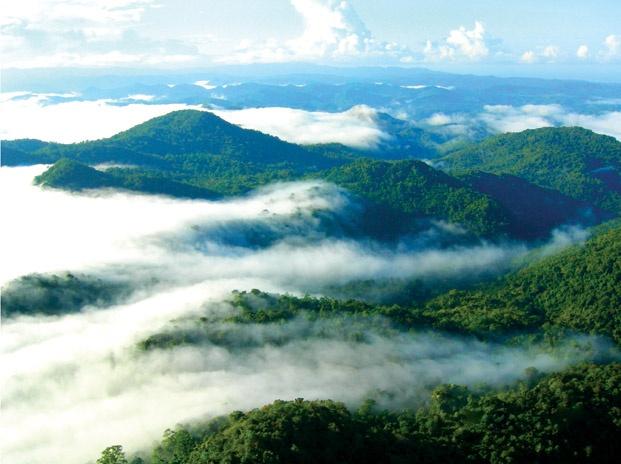 Mount Tambora, a stratovolcano in Sumbawa Island, West Nusa Tenggara, Indonesia.