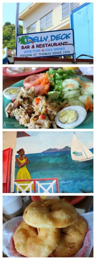 Visit Delly Deck restaurant in St. Thomas, Virgin Islands for local island breakfast. Here's the inside scoop on what to order and when to go #travel