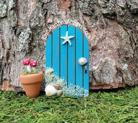 176 best images about beach fairy gardens on pinterest for Miniature fairy garden doors