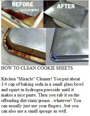 How to clean cookie sheets & pans. Can't wait to try this hope it works as good it says it does!