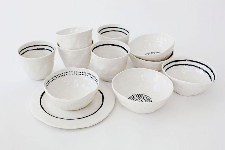 Bowls by Swedish Kajsa Cramer.