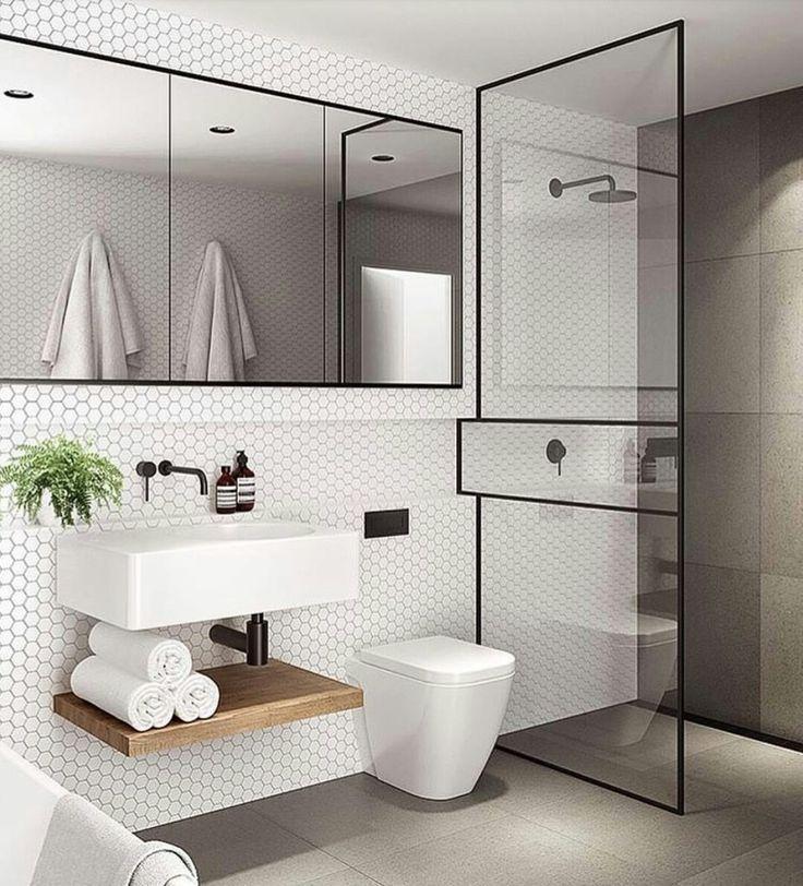 Beautifully Elegant And Sleek Modern Bathroom In 2020 Bathroom Design Small Modern Modern Small Bathrooms Minimalist Bathroom