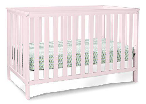 Stork Craft Rosland 3 in 1 Convertible Crib Pastel Pink