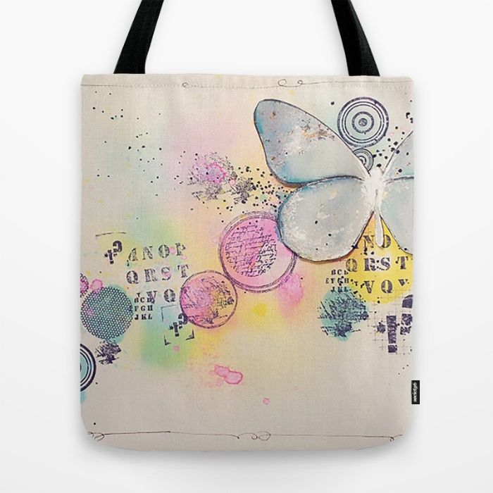 Butterfly in the bubbles Tote Bag
