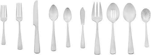 AmazonBasics 65-Piece Stainless Steel Flatware Set with Square Edge, Service for 12. For product & price info go to:  https://all4hiking.com/products/amazonbasics-65-piece-stainless-steel-flatware-set-with-square-edge-service-for-12/