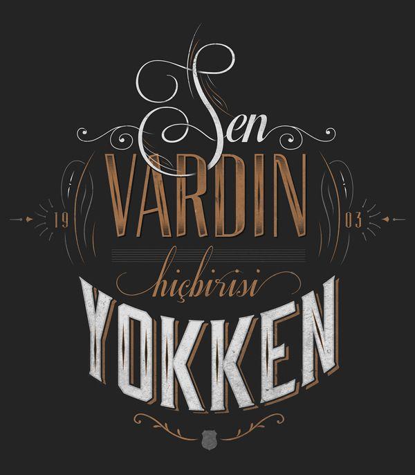 Beşiktaş Chants by Ozan Karakoç, via Behance #Beşiktaş