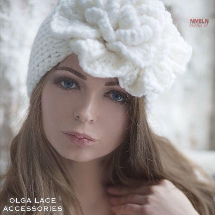 "Купить Вязаная повязка ""Beauty Flower"" от Olga Lace - Вязаная повязка, повязка на голову"