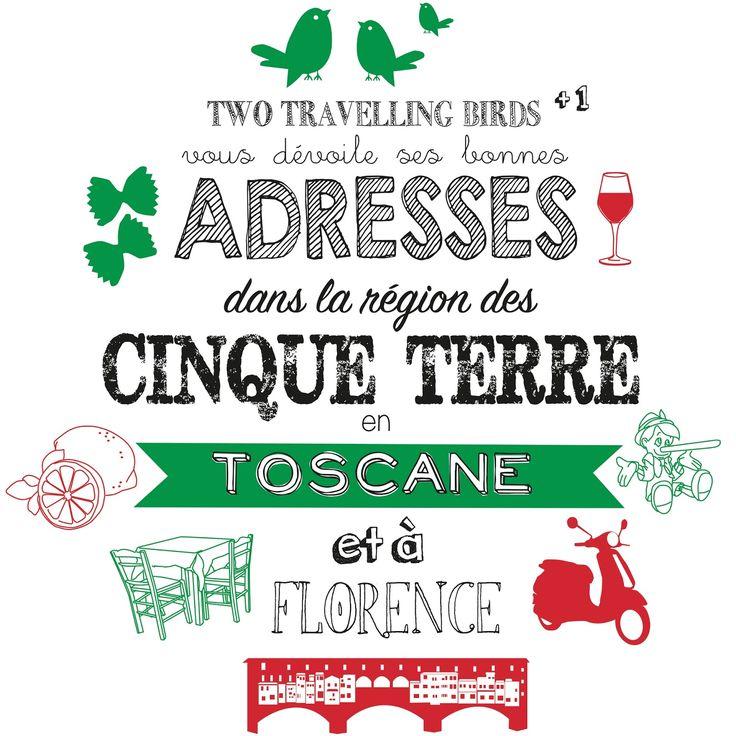 Voici venu le temps de vous donner toutes les adresses qui ont marqué notre séjour en Toscane et dans les Cinque Terre l'année dernière...