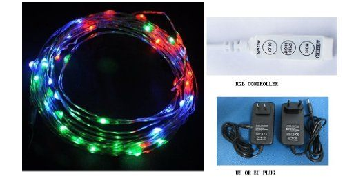 Q20ag Hot Sale Starry Lights - Rgb Colorful Color Copper Wire - 15ft 5m LED String Light - Includes Power Adapter and RGB Flash Controller - 2nd Generatin with 100 Individual Led's- Flexible Dc12v Power 5-6w for Wedding Christmas Party qlee http://www.amazon.com/dp/B00CONSMQ0/ref=cm_sw_r_pi_dp_GoNhwb1C5GT2N