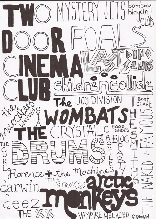 Gotta check out the ones Ive never heard of. Favs on this list are Two Door Cinema Club, Vampire weekend, The Wambats