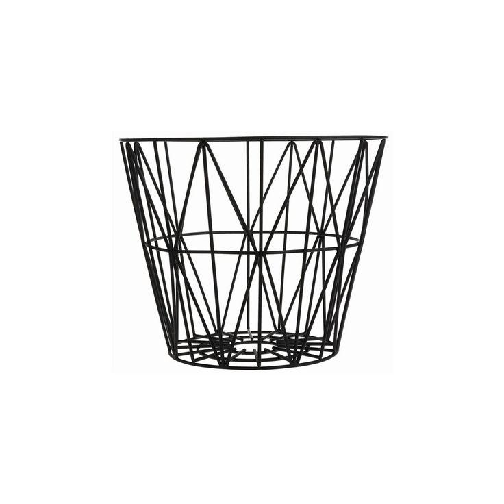 ferm LIVING wire basket liten svart