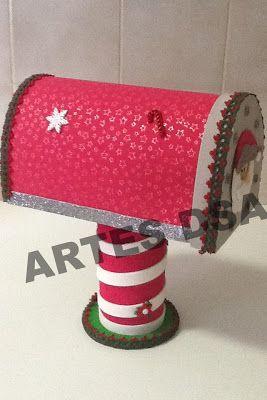 *** ARTES DSA ***: Caixa de Correio de Papai Noel em EVA                                                                                                                                                                                 Mais