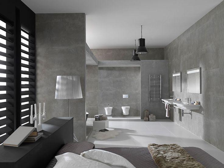 ➝ Cómo decorar un #baño urbano: minimalismo y luz para lograr un espacio relajante y confortable #tendencias #tips #diseñodebaños