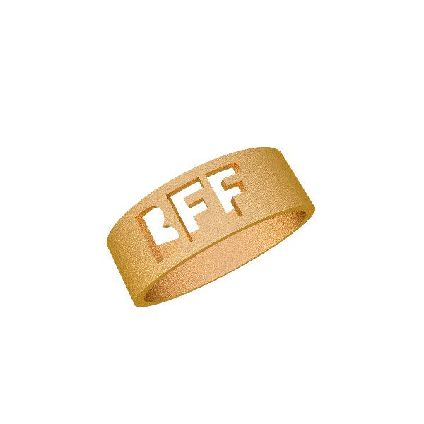 BFF ring Zazzy custom 3D printed jewelry for best friends forever