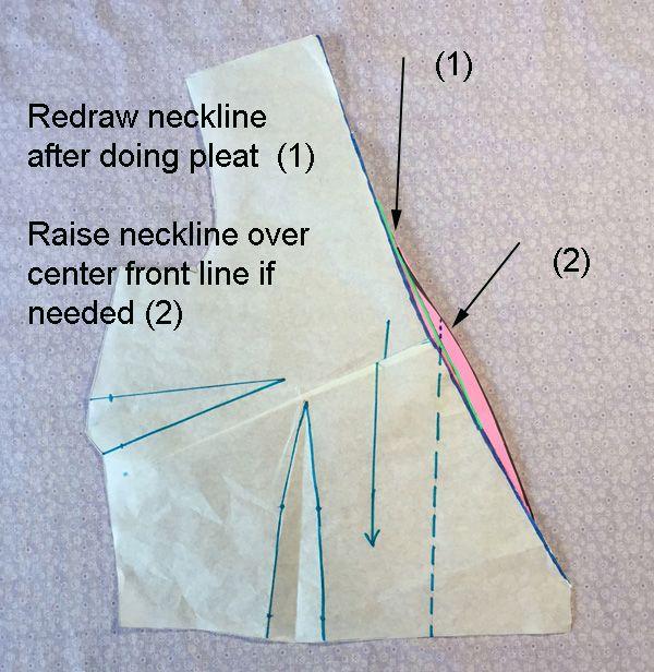 how to adjust a wrap dress neckline edge
