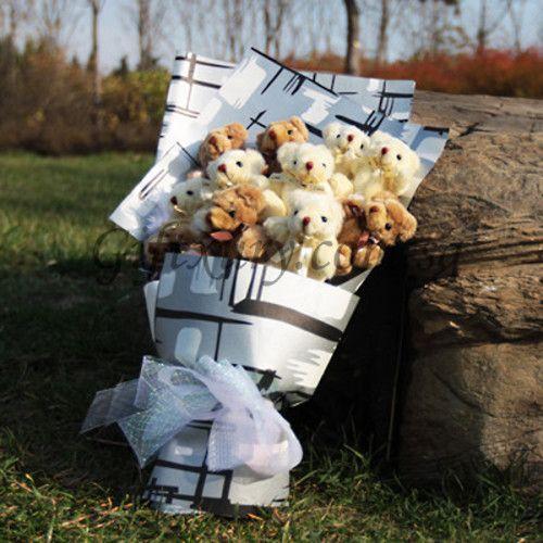 Teddy Bear Grey Bouquet http://www.giftxury.com.sg/product/teddy-bear-grey-bouquet/