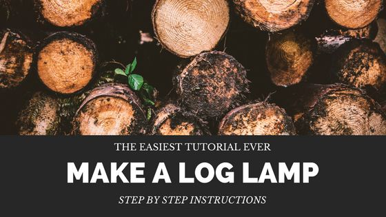 Wanting a log lamp but don't want to shell out big bucks to get one? Follow my simple tutorial and have your own log lamp in no time!