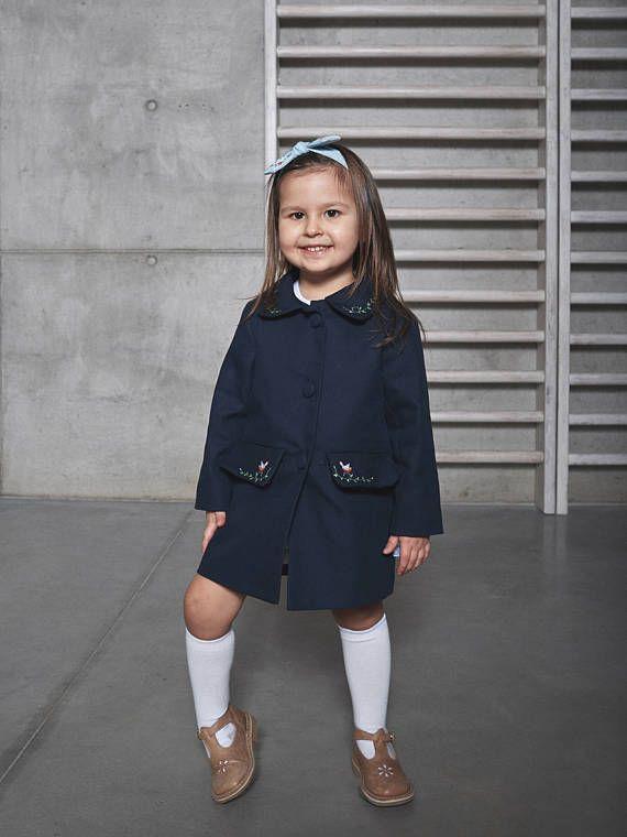 Girl embroider coat, girl baptism clothes, royal princess outfit, Baby girl coat, baby girl raincoat, Princess outfit, Christening outfit